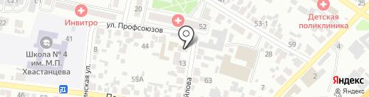 Адвокатский кабинет Штыкова В.В. на карте Минусинска