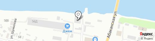 Джем на карте Минусинска
