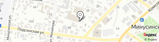 Баня-сауна на карте Минусинска
