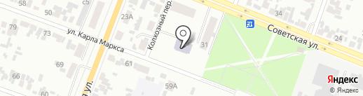 Минусинский на карте Минусинска