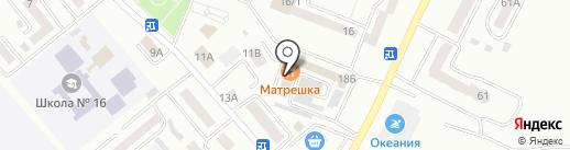 Матрешка на карте Минусинска