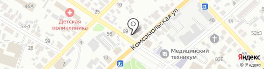 Минусинское городское проектно-производственное архитектурно-планировочное бюро, МУП на карте Минусинска