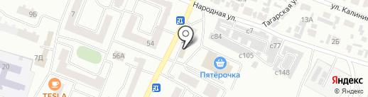 Мяско на карте Минусинска