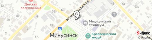 Библиотека №7 им. В. Яна на карте Минусинска