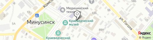 Лига Пресс на карте Минусинска