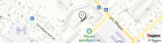 Магазин продуктов на ул. Обороны на карте Минусинска