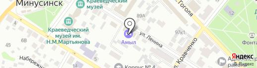 Амыл на карте Минусинска