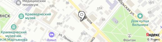 Строительная компания на карте Минусинска