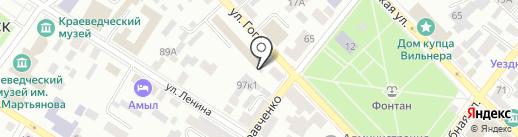 Фонд социального страхования РФ на карте Минусинска