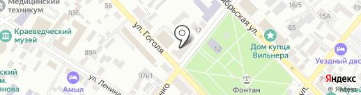 Единая Россия на карте Минусинска
