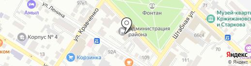 Минусинский городской суд на карте Минусинска