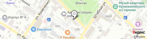 Администрация г. Минусинска на карте Минусинска
