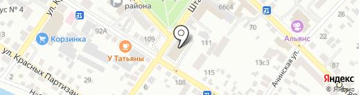 Банкомат, Восточно-Сибирский банк Сбербанка России на карте Минусинска