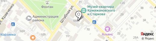 Ника на карте Минусинска