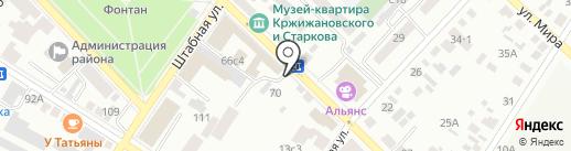 Киоск по продаже цветов на карте Минусинска