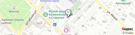 Местная общественная организация ветеранов войны и труда, вооруженных сил и правоохранительных органов на карте Минусинска