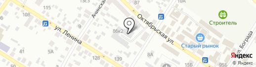 Утренняя звезда на карте Минусинска