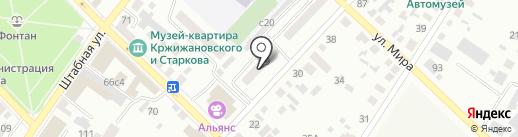 Минусинский квартал на карте Минусинска
