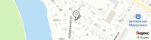Набережный на карте Минусинска