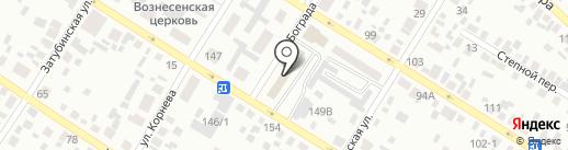 Магазин мебели на ул. Бограда на карте Минусинска