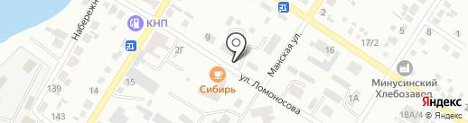 Старые Жигули на карте Минусинска