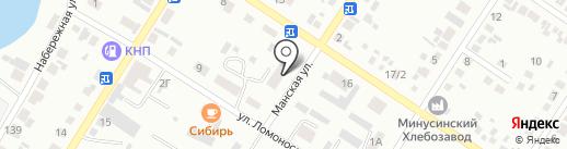 Почтовое отделение №5 на карте Минусинска