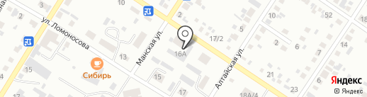 Библиотека №3 на карте Минусинска