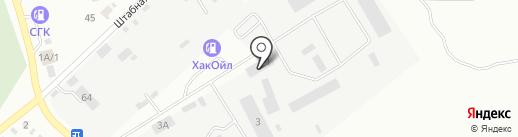 Управление автомобильных дорог по Красноярскому краю на карте Минусинска