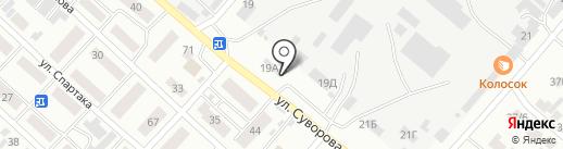 Серебряный шар на карте Минусинска