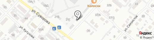 Дизель на карте Минусинска