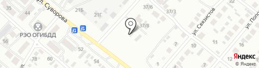 Минусинская на карте Минусинска