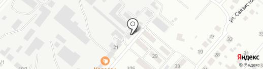 Эстиб на карте Минусинска