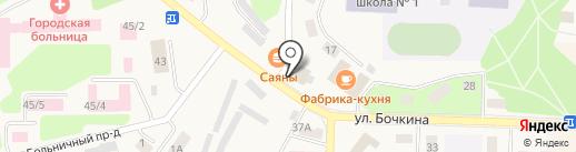 Магазин фруктов и овощей на карте Дивногорска
