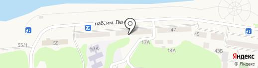 Семафор на карте Дивногорска