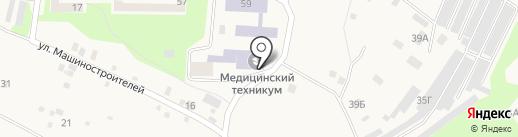 Дивногорский медицинский техникум на карте Дивногорска
