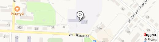 Средняя общеобразовательная школа №5 на карте Дивногорска