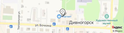 Магазин косметики и парфюмерии на карте Дивногорска