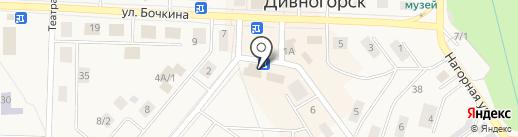 Банкомат, Енисейский объединенный банк на карте Дивногорска