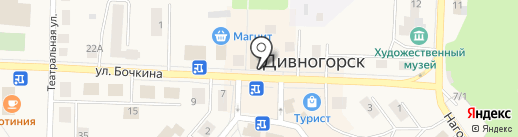 Велл на карте Дивногорска