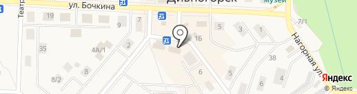 Зеленогорский на карте Дивногорска