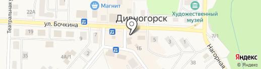 Киоск по продаже лотерейных билетов на карте Дивногорска