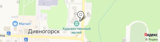Дивногорский художественный музей на карте Дивногорска