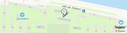 Средняя общеобразовательная школа №4 на карте Дивногорска