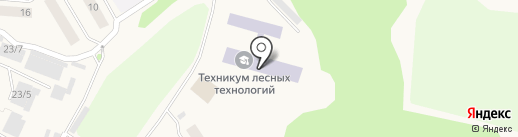 Дивногорский лесхоз-техникум на карте Дивногорска