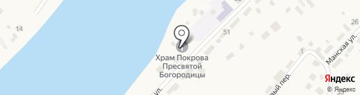 Храм Покрова Божией Матери на карте Усть-Маны