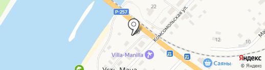 Яр на карте Усть-Маны