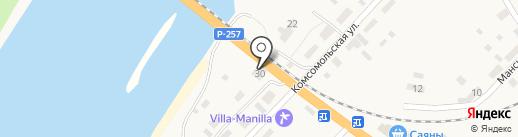 У дороги на карте Усть-Маны