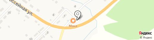 Мана на карте Усть-Маны