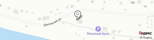 Манский Бриз на карте Красноярского края