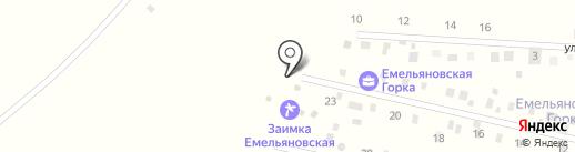 Емельяновская Горка на карте Красноярского края